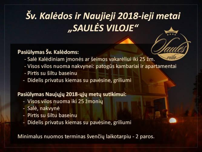 """Sodybos-vilos nuoma Palangoje Šv. Kalėdoms ir Naujiems metams """"SAULĖS VILA"""""""