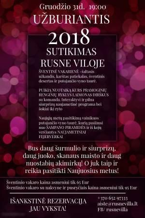 2018-ųjų metų sutikimo šventinis vakaras Rusne Viloje