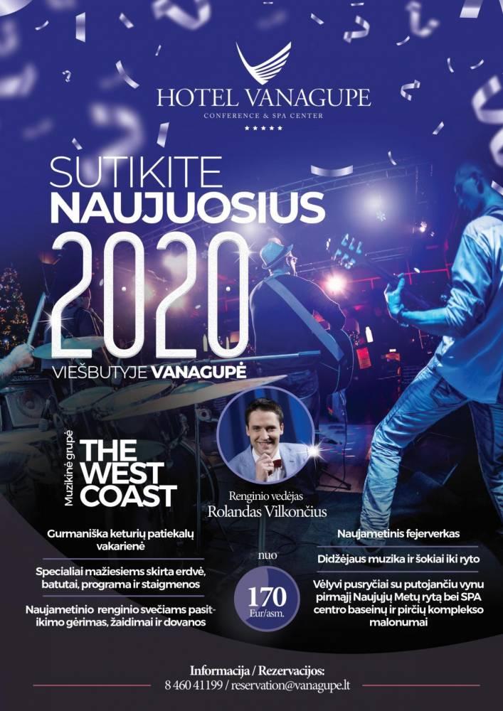 Kviečiame sutikti Naujuosius 2020 metus viešbutyje VANAGUPĖ!